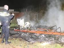 Caravan brandt af in Rumpt