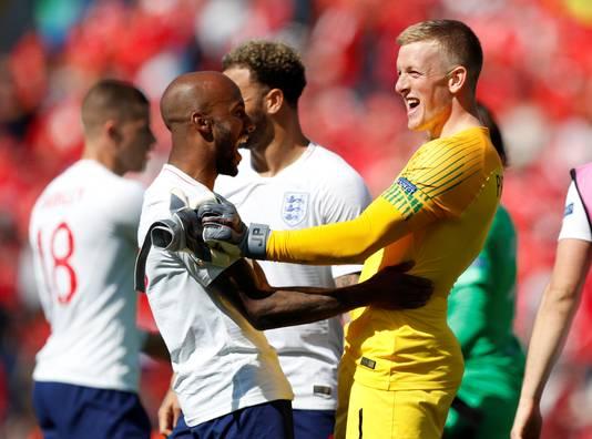 Jordan Pickford was de held van Engeland met een benutte strafschop, waarna hij de zesde penalty van de Zwitsers pakte.