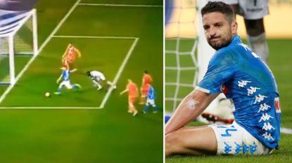 Napoli wint zuinig tegen SPAL: Dries Mertens geeft assist, maar knalt ook prima kans van dichtbij op de paal