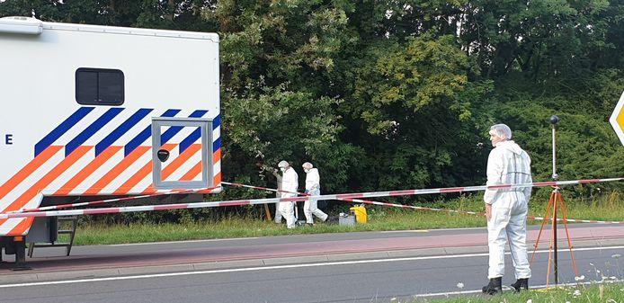 De politie op de plaats delict in Nijmegen.