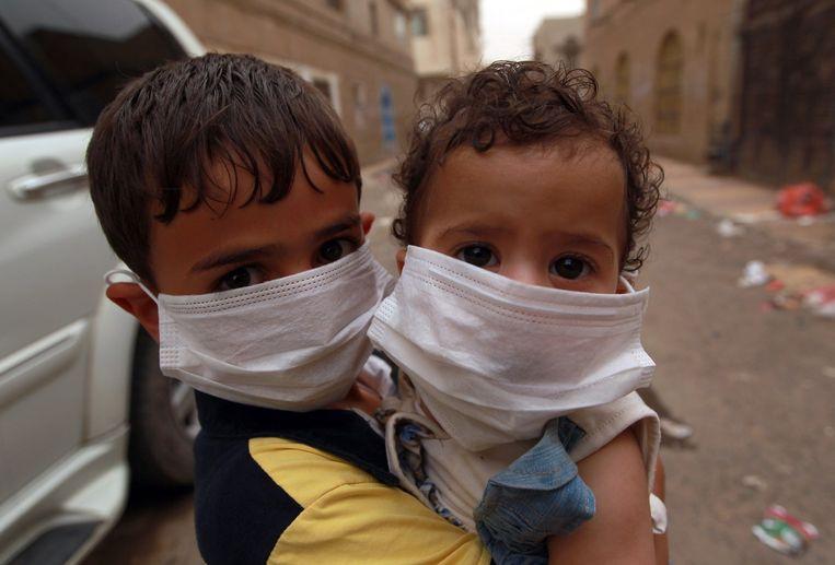 Kinderen in Sanaa, Jemen. Beeld afp