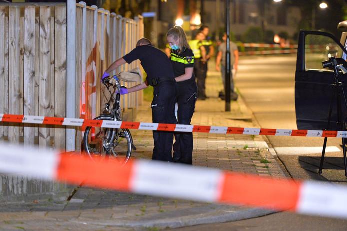 De fiets is voor onderzoek meegenomen