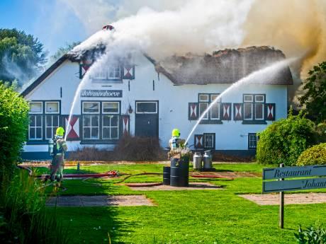 Voormalig Capels restaurant Johannahoeve afgebrand