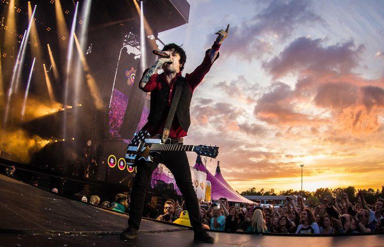 Green Day op Pinkpop. Beeld anp