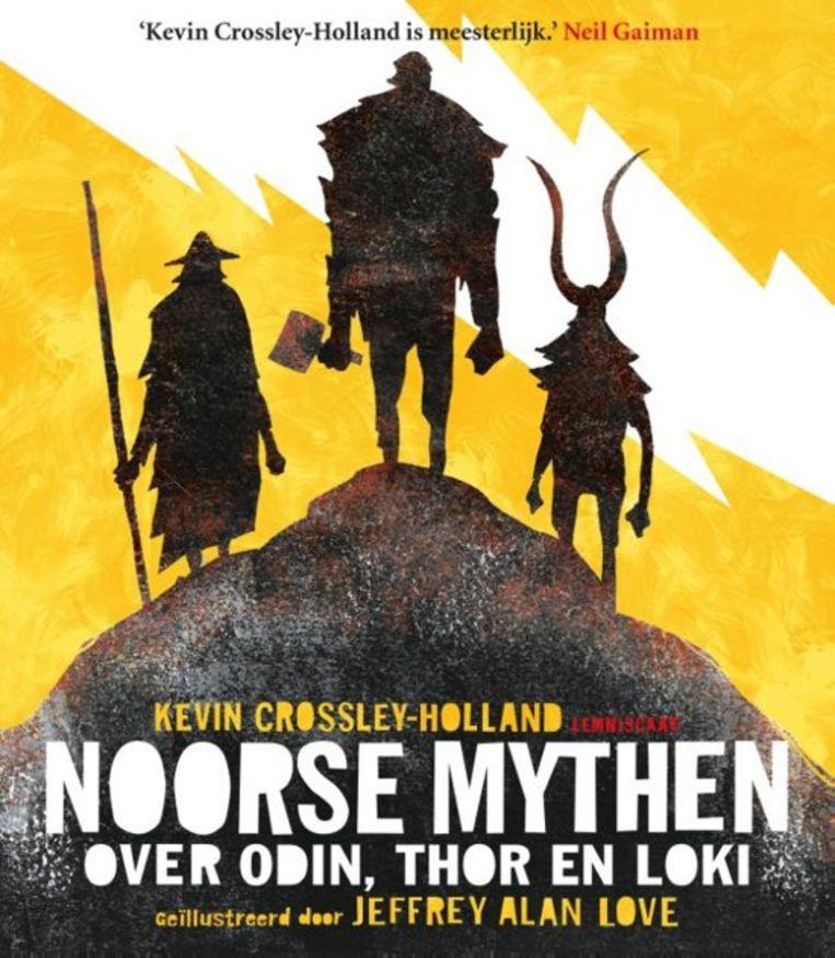 Kevin Crossley-Holland en Jeffrey Alan Love  Noorse mythen: over Odin, Thor en Loki  Lemniscaat 27,95 (*****)  Vanaf 9 jaar, voorlezen kan eerder Beeld