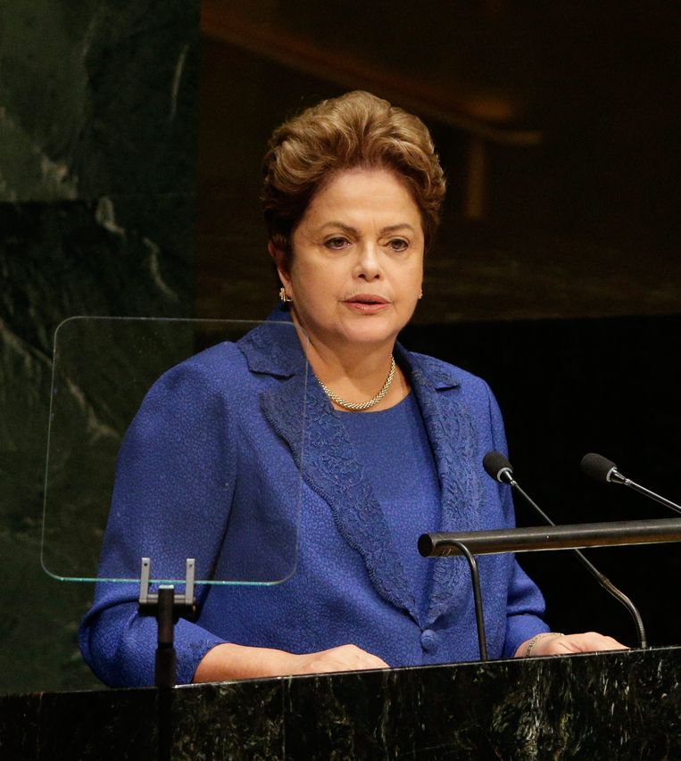 Braziliaanse president Dilma Rousseff Beeld EPA