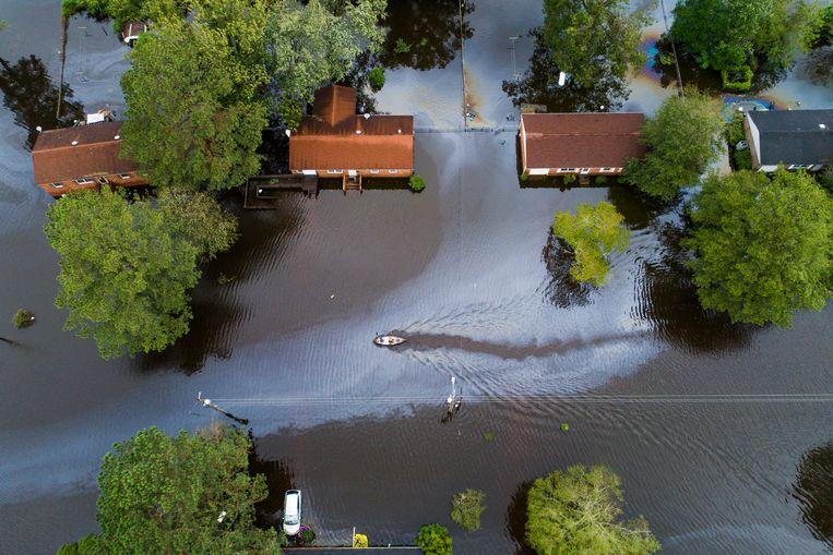 De orkaan Florence trof onder andere North Carolina en zorgde voor heel wat schade.