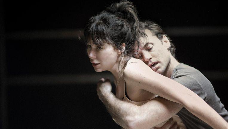 Jude Law en Halina Reijn tijdens de repetities van Obsession Beeld Jan Versweyveld