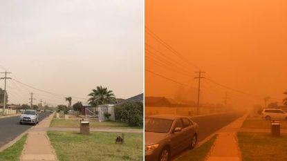 """Inwoners zien Australisch stadje oranje kleuren door stofstorm: """"Onleefbaar"""""""