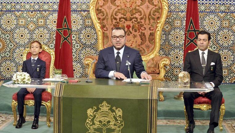 Koning Mohammed VI van Marokko tijdens een toespraak in november vorig jaar. Beeld Reuters