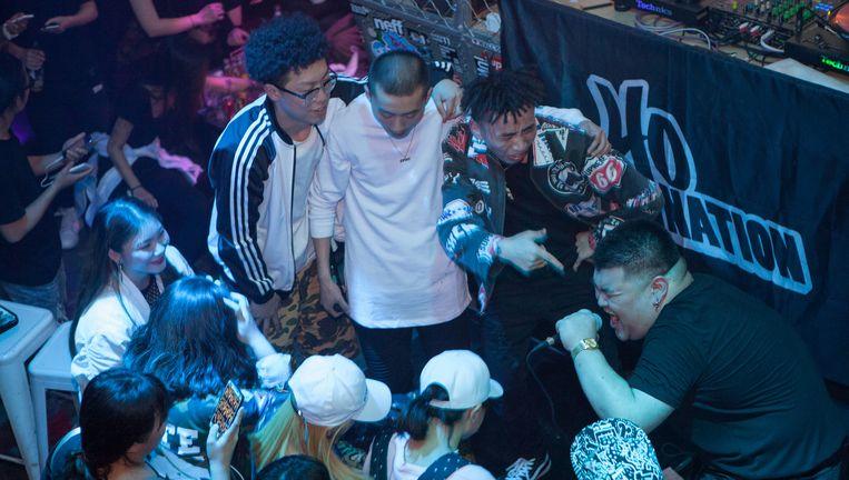 Optreden van Higher Brothers PsyP, Melo, Ma Siwei en DZ. Beeld WassinkLundgren