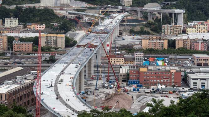 Nieuwe snelwegbrug in Italië opent begin augustus