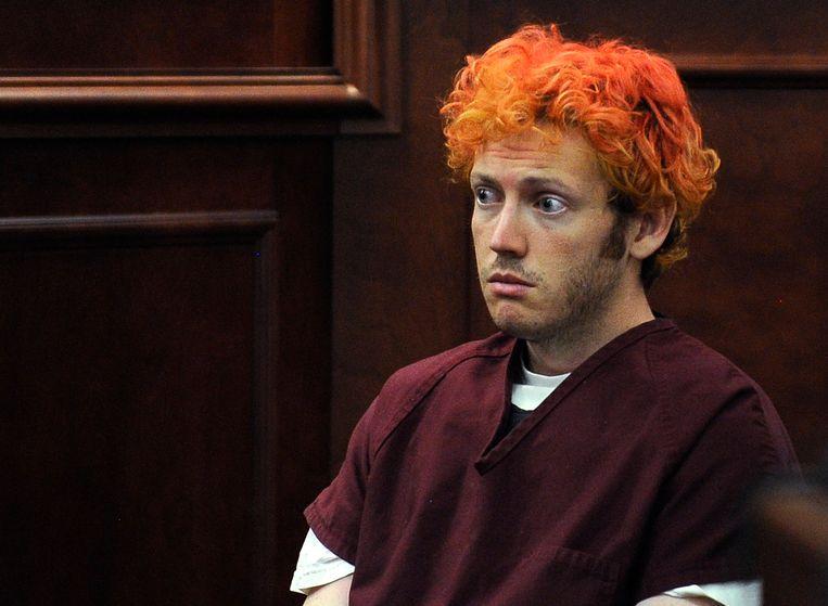 James Holmes schoot in 2012 twaalf mensen dood in een bioscoop. Beeld ap