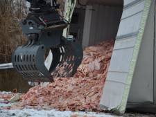 Vrachtwagen te water en verliest lading zwoerd na botsing met auto in Beltrum