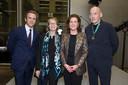 Guillaume Houzé, President van Fondation Galeries Lafayette; Franse Minister van Cultuur Françoise Nyssen; Nederlandse Minister van Cultuur Ingrid van Engelshoven; Rem Koolhaas.