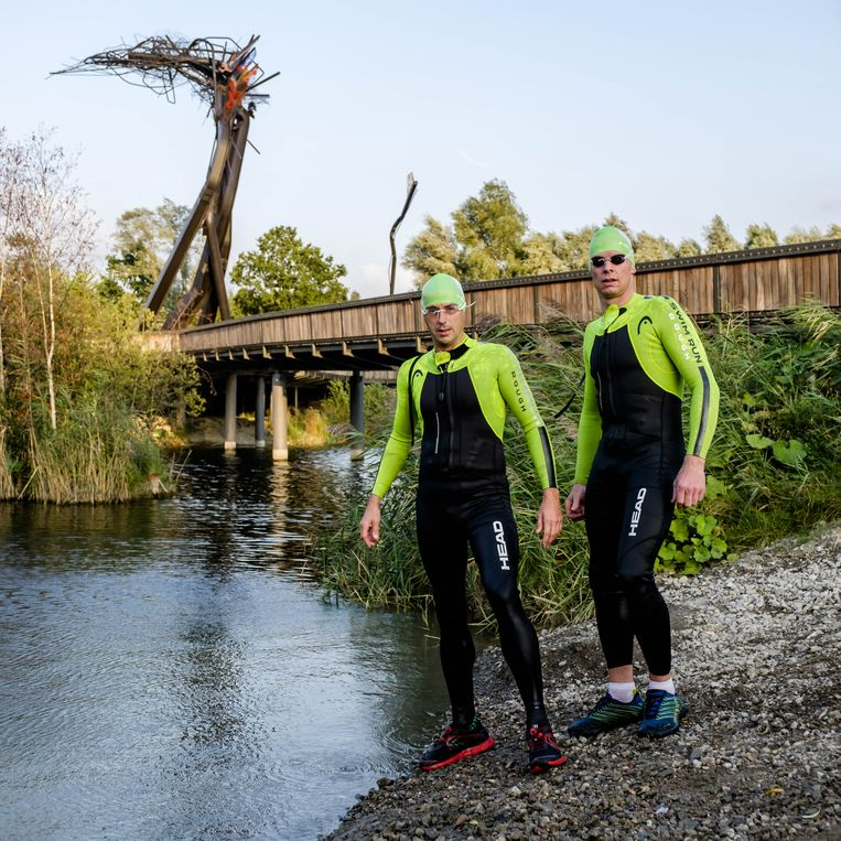 Jan Syryn en Stefan Cnapelynck, de initiatiefnemers achter Amphiman Swimrun.