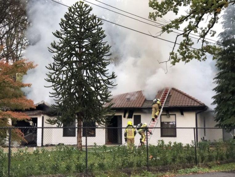 Het oudste gedeelte van de is volledig verloren na de brand. Het nieuwe gedeelte bleef gespaard.