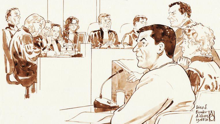 Dino Soerel in de justitiebunker in Amsterdam-Osdorp. Beeld ANP