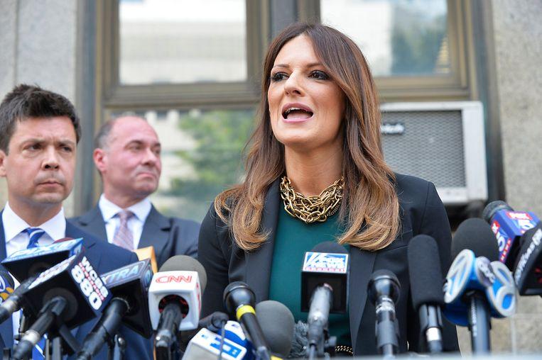 Donna Rotunno spreekt de pers toe.