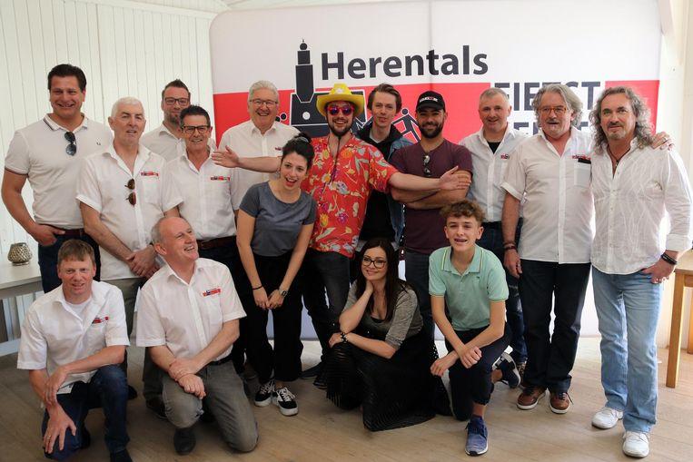 De organisatoren en enkele artiesten zijn klaar voor Herentals Fietst & Feest op 2 en 3 augustus.