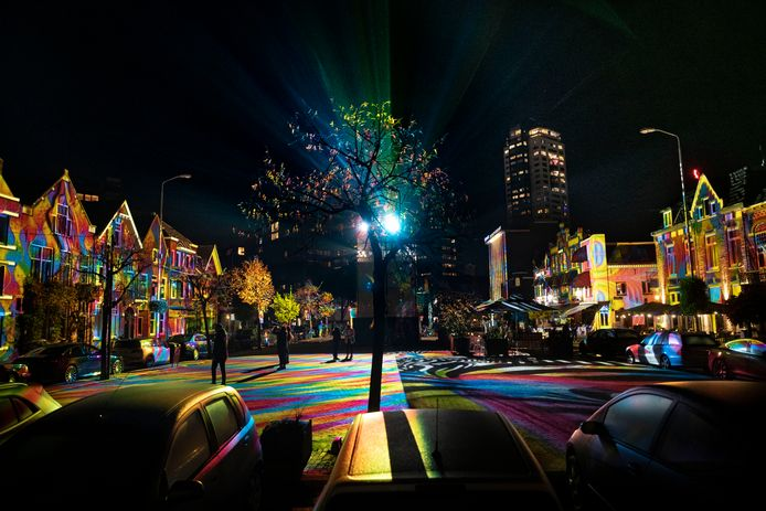 Kleurrijke taferelen in Eindhoven.