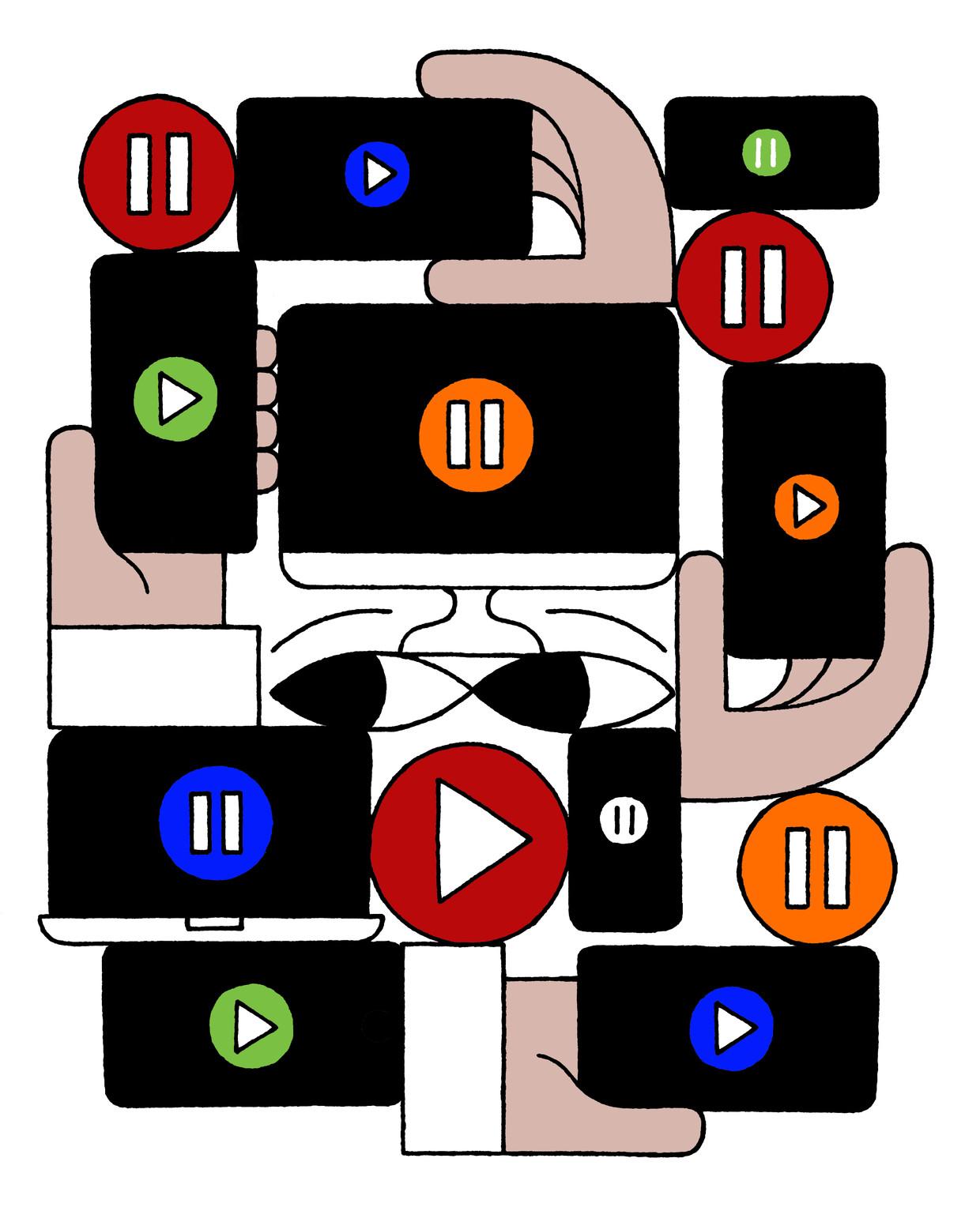 Het aanbod van streamingsdiensten. Beeld Gino Bud Hoiting