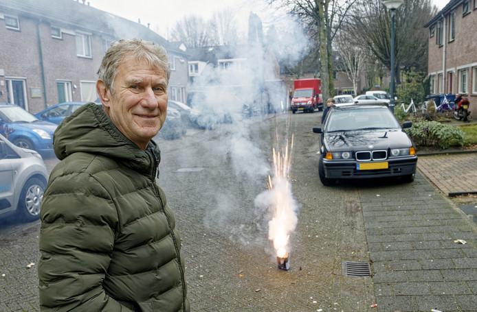 Wim van der Rijt uit Schijndel is de initiatiefnemer van een vuurwerkvrije zone in zijn wijk Plein.