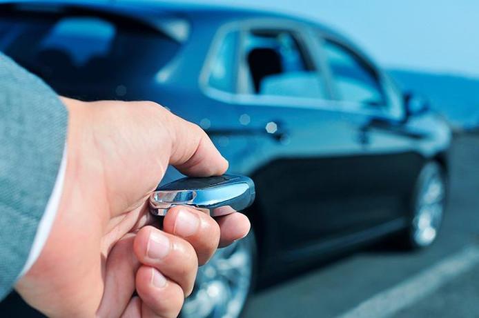 Het keyless-systeem moet ver genoeg weg van de auto bewaard worden