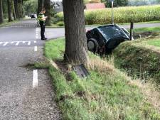 Automobilist belandt in greppel in Dalfsen