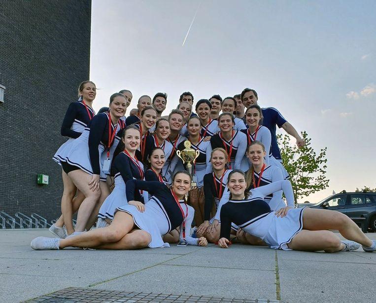 Het KU Leuven Cheer Team pakt goud op het Belgisch kampioenschap in Heist-op-den-Berg