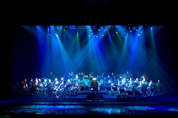 Het orkest van de Koninklijke Luchtmacht tijdens een eerdere show.