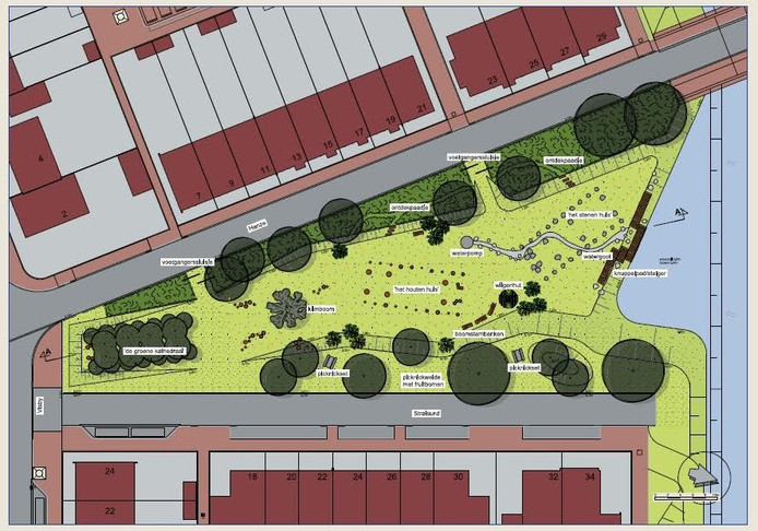 In de nieuwbouwbuurt Assenrade in Hattem komt een speelpark voor jong en oud in de vorm van een driehoek.