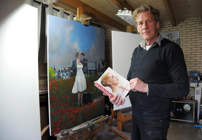 Roeland van der Kley werkt in zijn atelier aan Het Lam Gods van Terneuzen: een altaarstuk voor Mathilde.