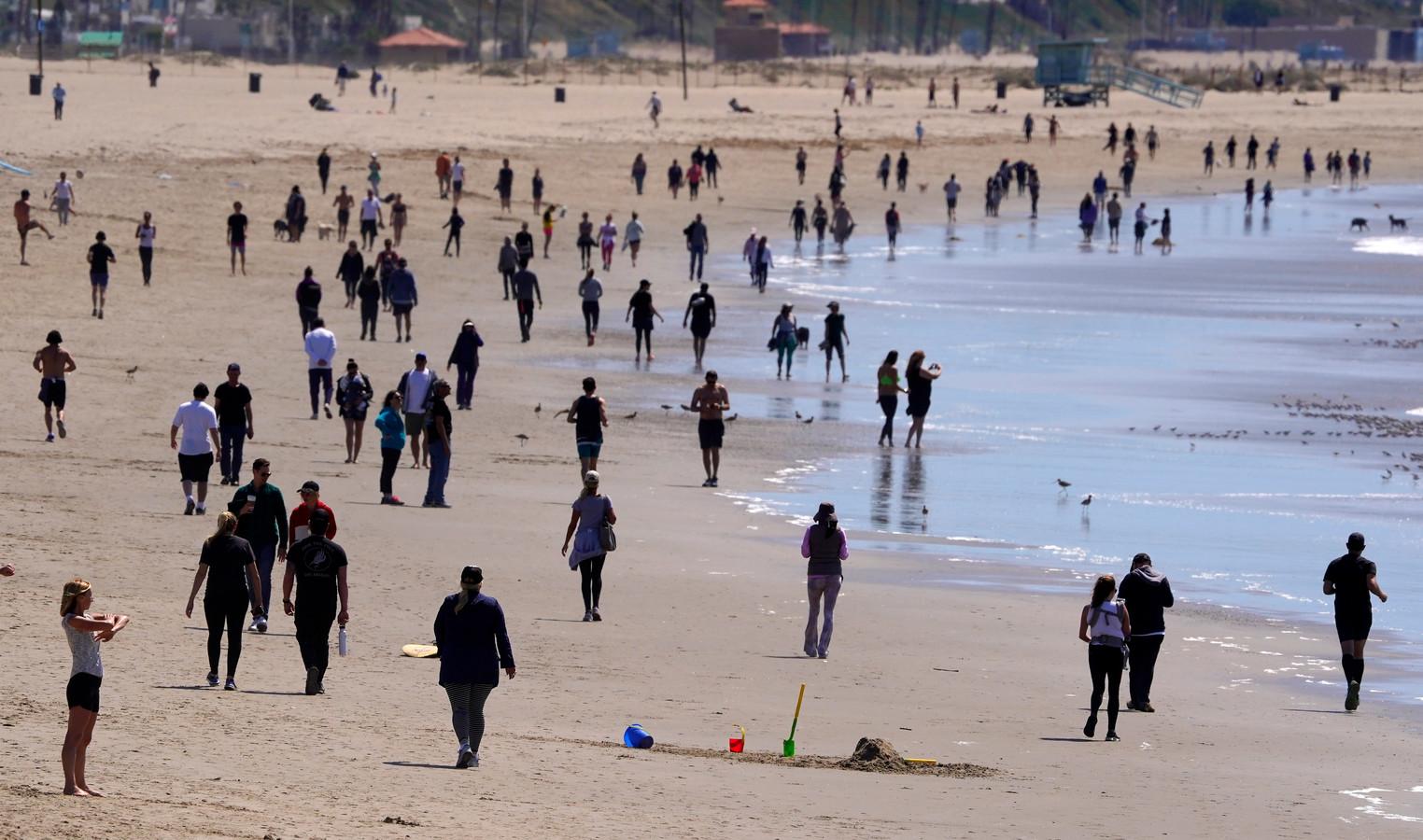 Le confinement selon les Californiens: Venice Beach, le 21 mars 2020.