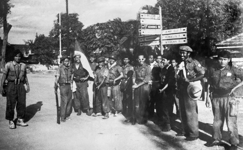 Republikeinse soldaten hebben Yogyakarta overgenomen in 1949. Daarbij vielen honderden doden. Beeld ANP