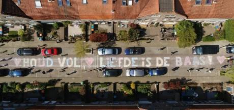 Hartverwarmende dronebeelden gemaakt boven Breda: 'Houd vol, liefde is de baas'