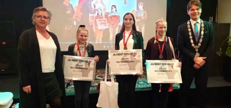 Evi (14), Guusje (15) en Dunya (10) zijn de nieuwe Jeugdhelden van Breda