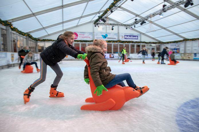 De ijsbaan van Veenendaal afgelopen winter.