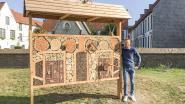 """Stad bouwt bijenhotels op vier plaatsen in Oudenaarde: """"Ik roep inwoners op om er ook eentje in de tuin te zetten"""""""