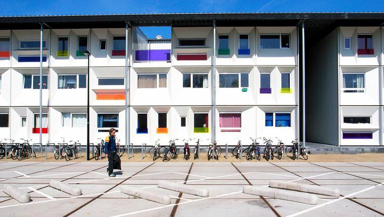 Studentenwoningen in de Houthavens in het Westelijk havengebied. Beeld anp