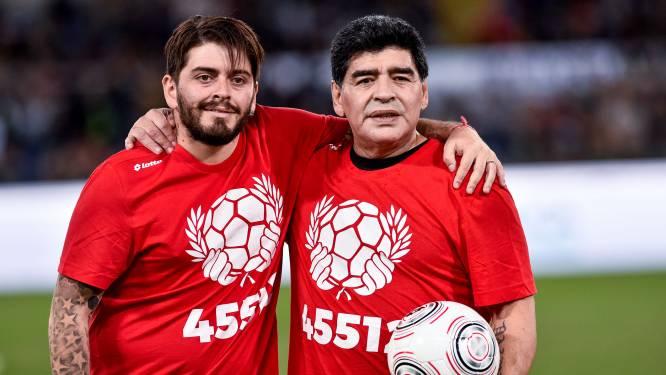 """Maradona junior beleefde afscheid van vader noodgedwongen vanuit Napels: """"Hele week gehuild"""""""