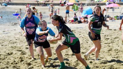 Rugbyspelers vinden verkoeling in Nieuwdonk