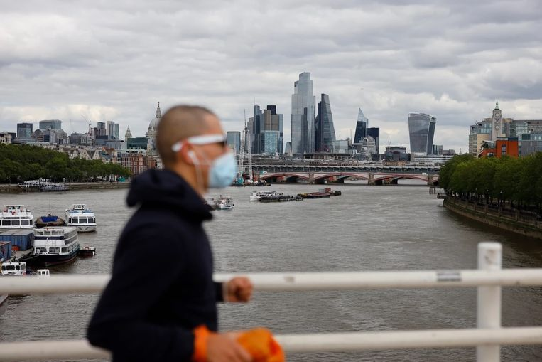 Waterloo Bridge in Londen.  Beeld AFP