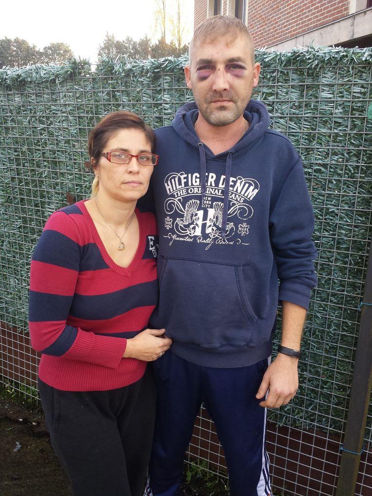 Davy Thomas met zijn echtgenote Wendy Codde. Hun huwelijksnacht eindigde in het ziekenhuis.