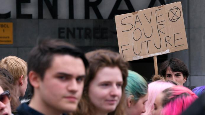 18ème Manifestation des jeunes pour le climat, à l'initiative d'étudiants flamands de Youth for Climate en mars dernier.