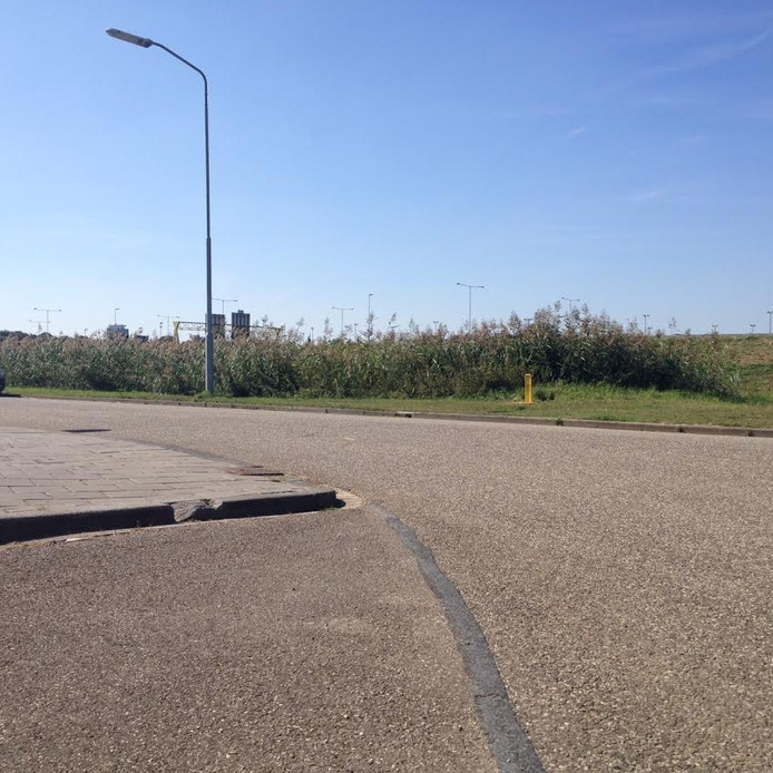De bocht waar een automobilist dinsdag de macht over het stuur zou zijn verloren.