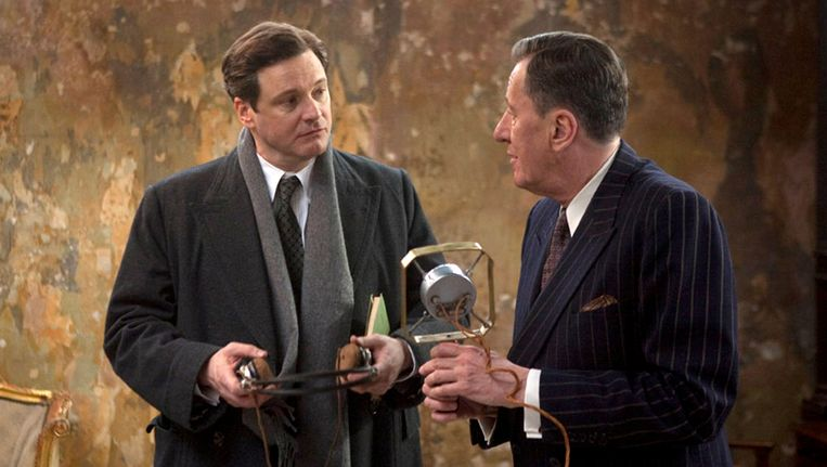 Colin Firth en Geoffrey Rush in de King's Speech Beeld ap