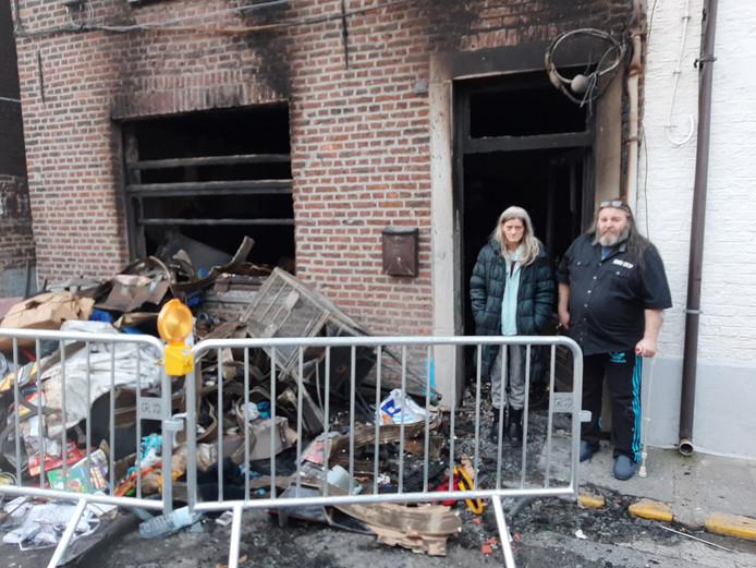 Nathalie Despiegeleer et Rudy Segers ont tout perdu dans l'incendie de leur maison.