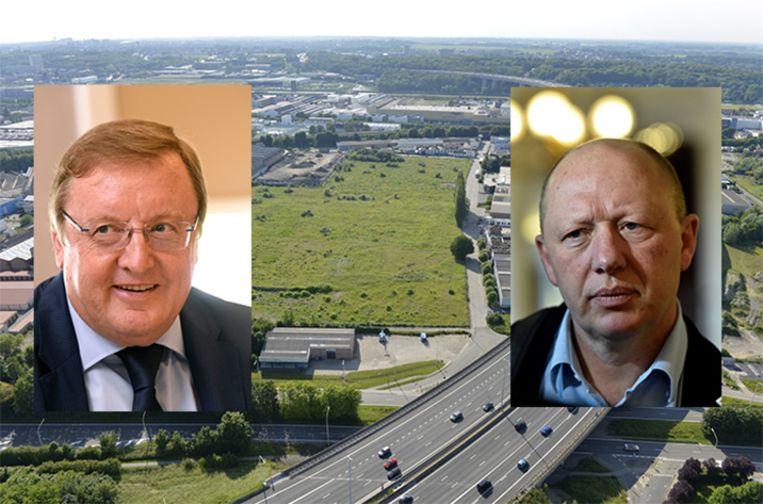 Jean-Pierre De Groef (sp.a) (l) is het voorstel van partijgenoot en Vilvoords burgemeester Hans Bonte om een bos aan te planten op de site helemaal niet genegen.