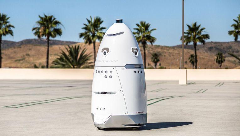 Een robottoezichthouder van het jonge Californische techbedrijf Knightscope. Beeld null